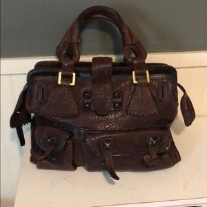 Authentic Chloe leather satchel
